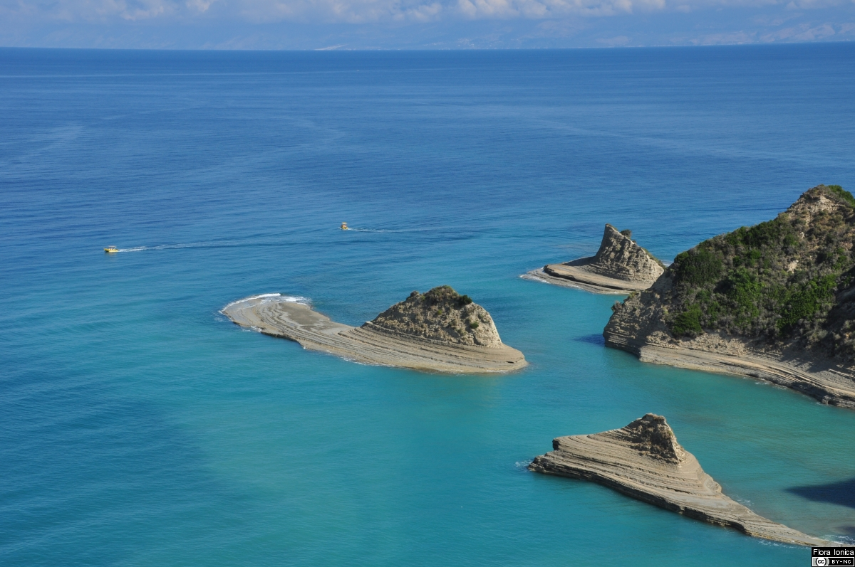 Sandy marl formations on Cape Drastis at the NW coast of Corfu.